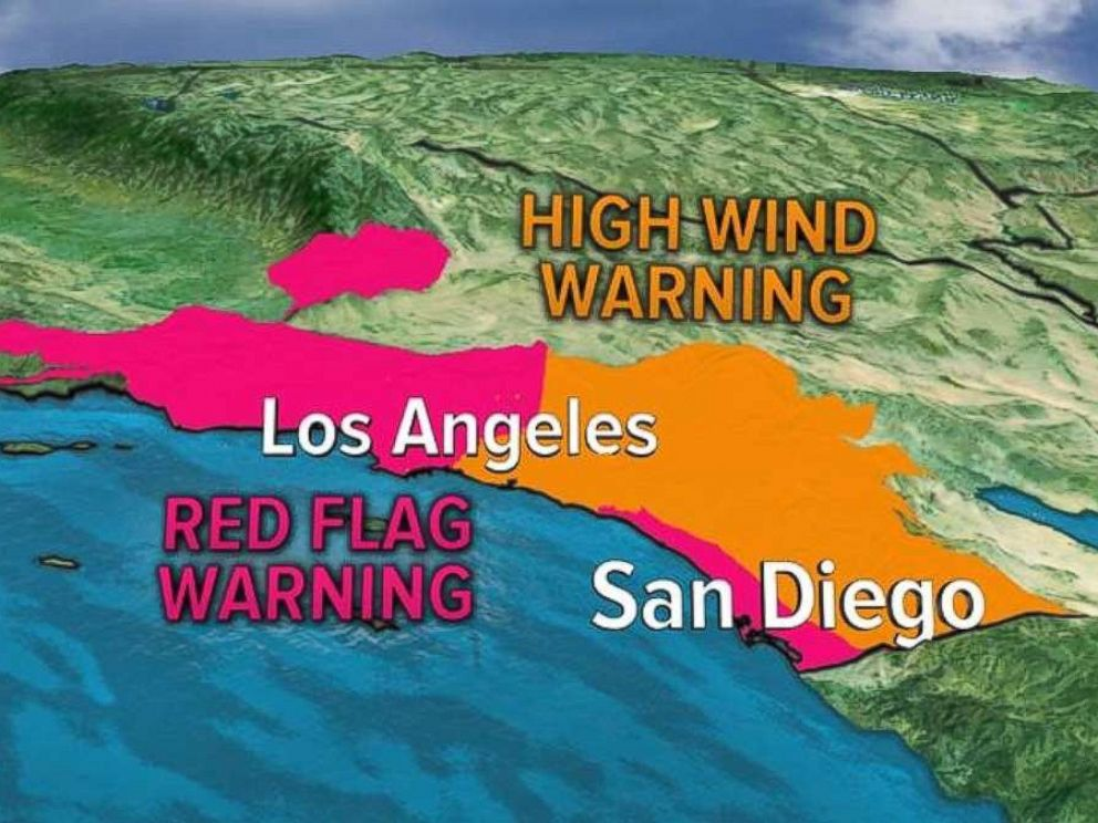 Southern California will be under red flag warnings for another day on Friday.