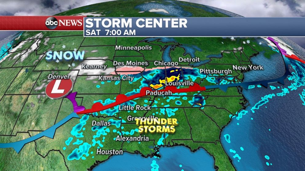 Much of the central U.S. has already been hit hard by storms this week, and can expect more rain this weekend.