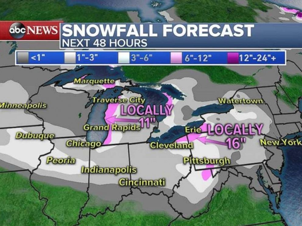 Snow, frigid temperatures kick off New Year's weekend