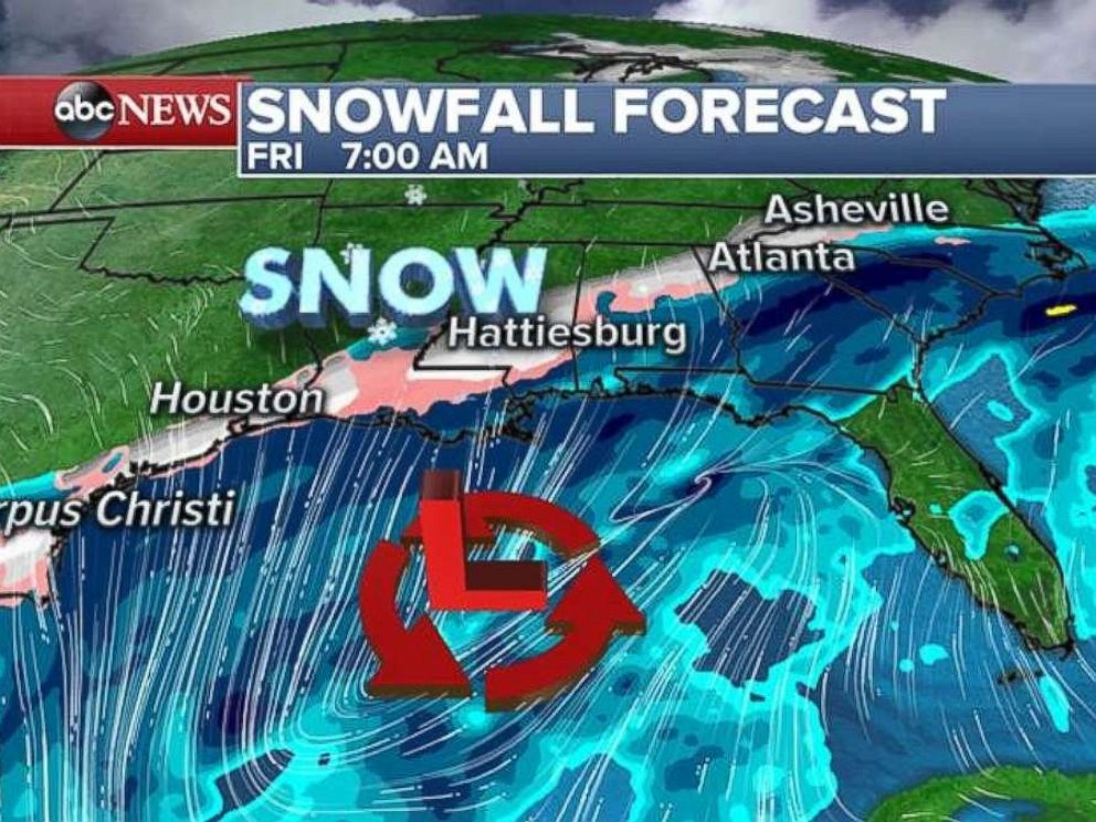 A storm system is developing in the Southeast on Friday morning.