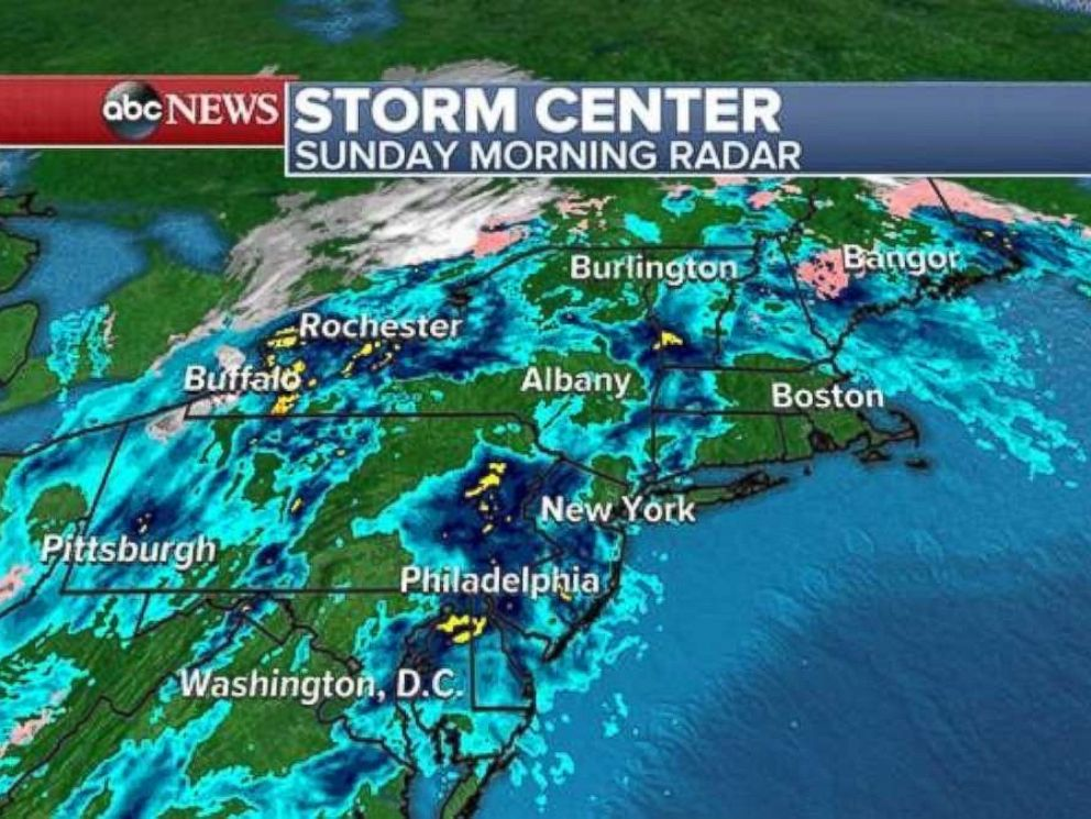The storm front will be moving into the Northeast on Sunday morning, Nov. 19, 2017.
