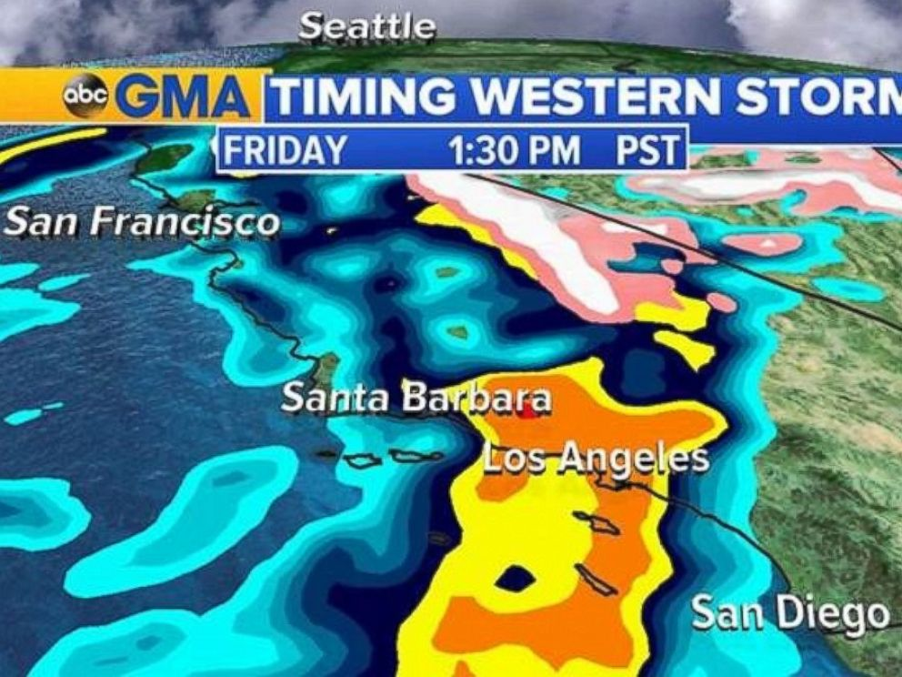 PHOTO: Los Angeles will see the heaviest rainfall starting Friday afternoon.