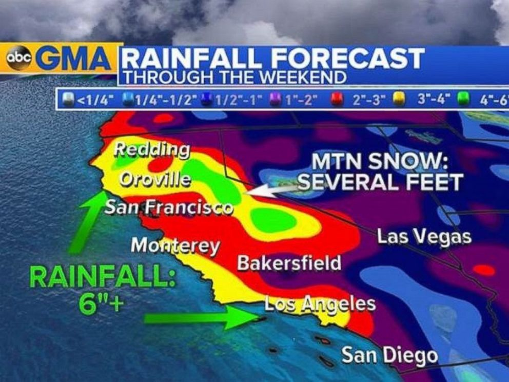 PHOTO: The rainy weather will linger in Southern California through this weekend.
