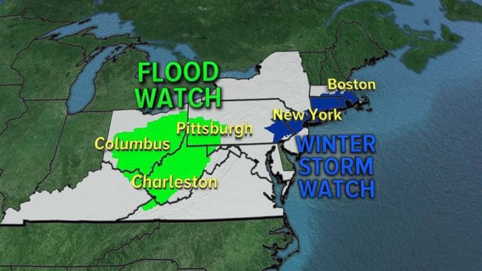 A winter storm watch was already in place in parts of the Northeast ahead of a storm expected on Saturday.