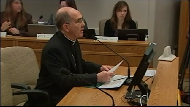 PHOTO: Seattle Archbishop J. Peter Sartain has encouraged area churches to hold petition drives for Referendum 74, which would pose the gay marriage law to voters during the November elections if opposition groups can get the requisite 120,000 signatures
