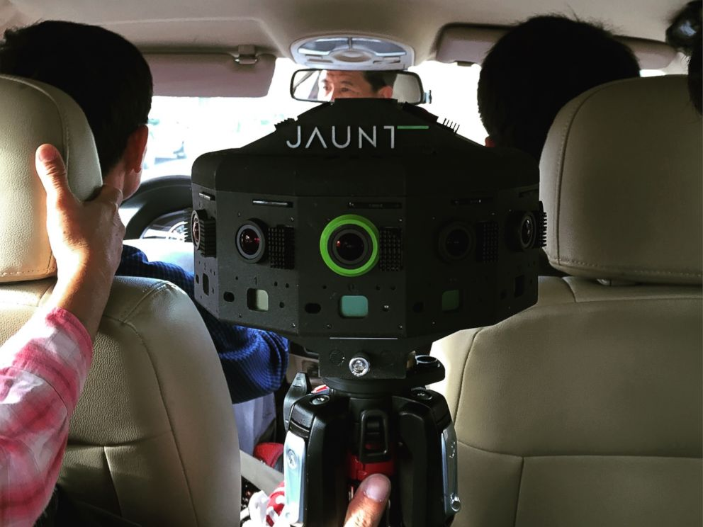 PHOTO: Jaunts 360 degree camera takes a taxi ride in Pyongyang, North Korea.