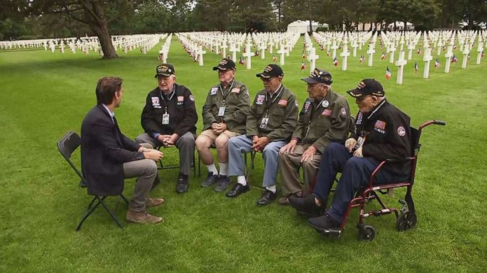 ABC News World News Tonight With David Muir recently met with several World War II veterans across the U.S. and traveled with them as they made their journey back to Normandy, France.
