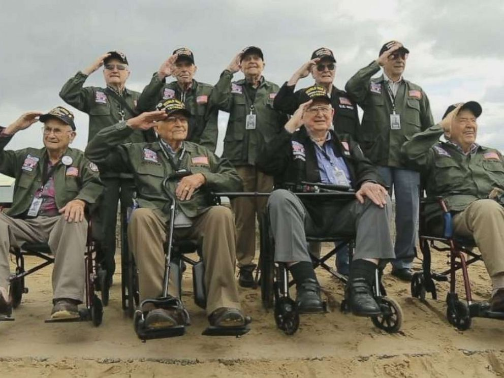 PHOTO: ABC News World News Tonight With David Muir recently met with several World War II veterans across the U.S. and traveled with them as they made their journey back to Normandy, France.