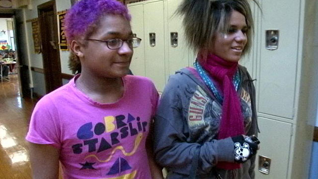 PHOTO: Two students at The Alliance School, a public middle school in Milwaukee that welcomes lesbian, gay, bisexual and transgender youth.