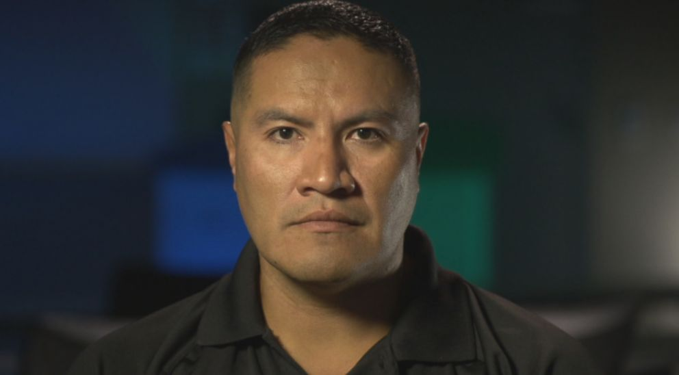 "Officer Orlando Macias with the Santa Rosa Police Department is seen here during an interview with ""Nightline."""