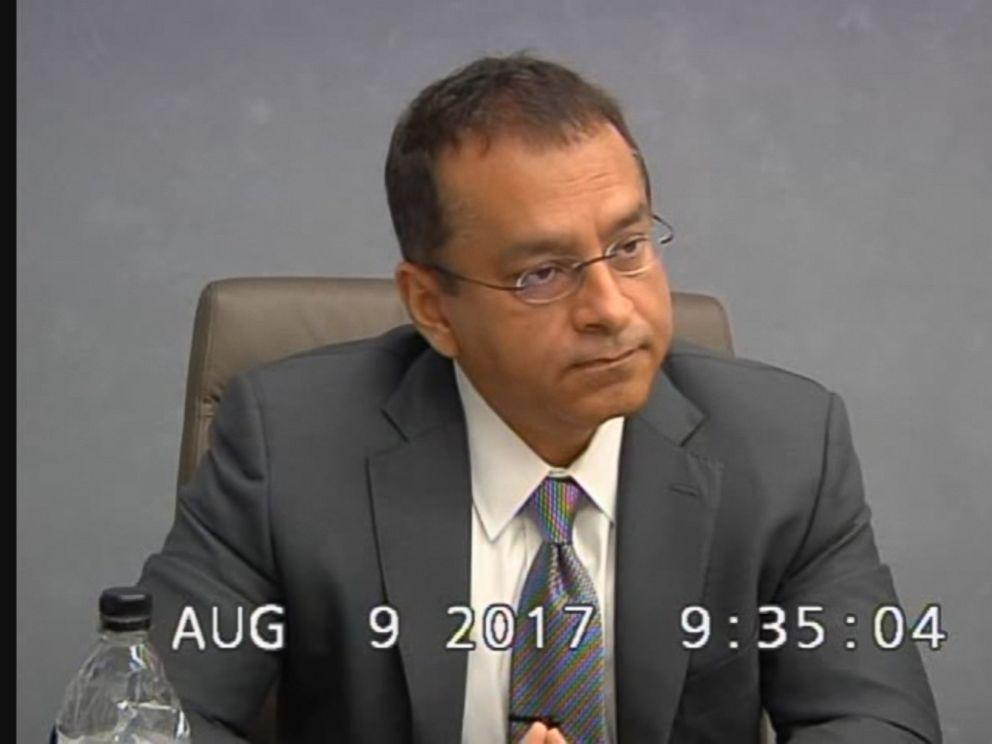 Ramesh Sunny Balwani is seen here during a 2017 deposition with the Securities and Exchange Commission.
