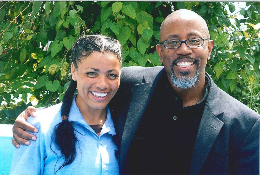 Tyra Patterson and David Singleton, Ohio Justice & Policy Center executive director, seen here in August 2013.