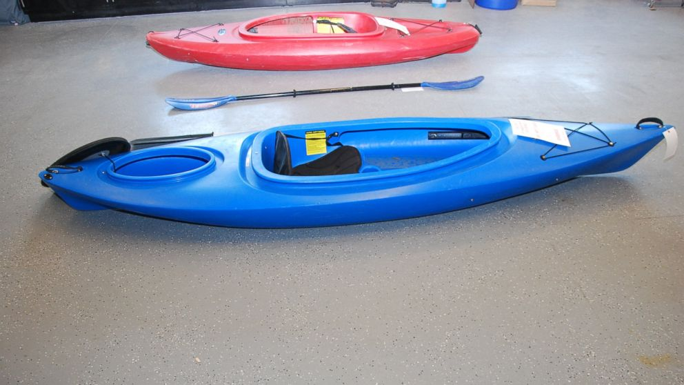 Vince Viafore used this blue kayak before he drowned in the Hudson River.