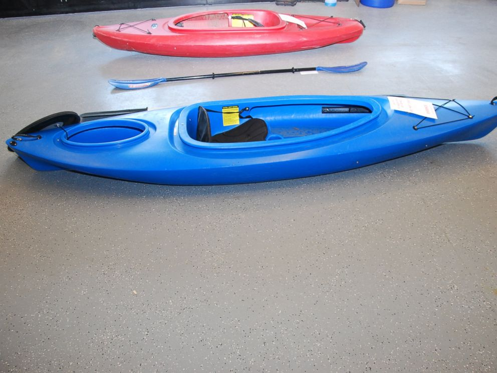 PHOTO: Vince Viafore used this blue kayak before he drowned in the Hudson River.