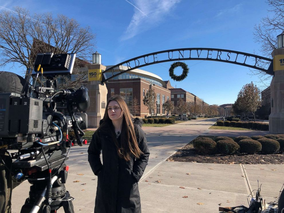 Purdue University student Abi Finney is seen here during an interview with Nightline.