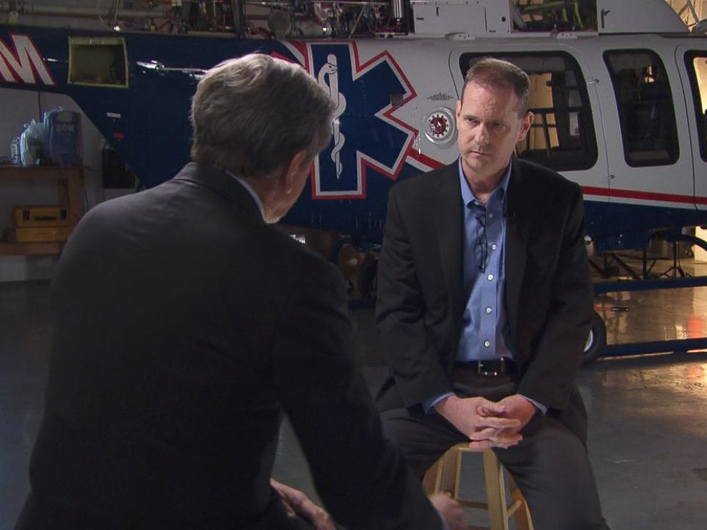 PHOTO: ABC News Chief Investigative Correspondent Brian Ross sat down with an Air Methods vice president, Paul Webster.