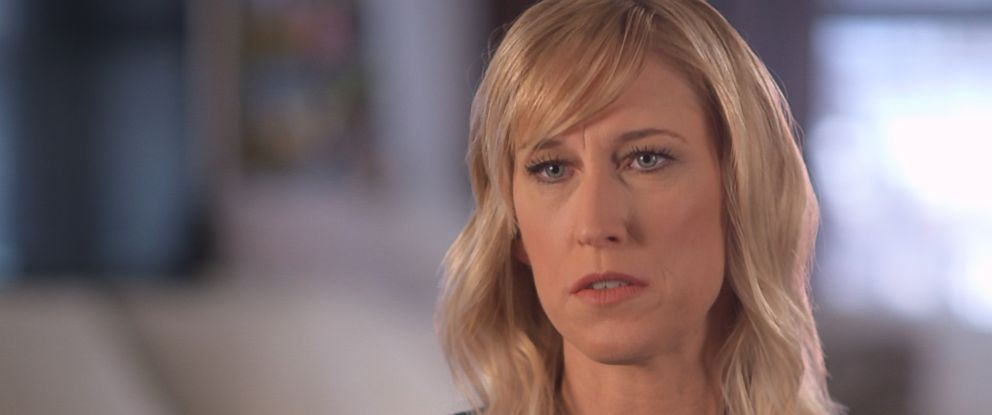 Amber Frey is seen here in an interview with ABC News.