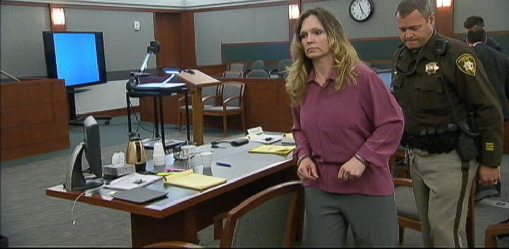PHOTO: Amy Bessey appears in court where she is being tried for allegedly plotting to murder her husband.