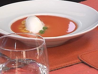 VIDEO: Scarpetta chef Scott Conant cooks cream into a refreshing dessert.