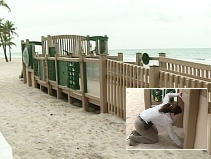 Video of mother forcing kids to live on beach.