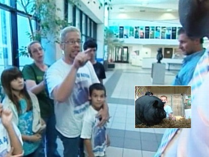 Video: N.C. city council votes to ban boys pet pig.