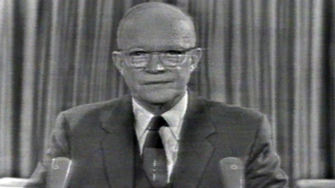 an examination of the farewell address of president eisenhower Eisenhower farewell address sharing options share on facebook, opens a new window share on twitter, opens a new window.