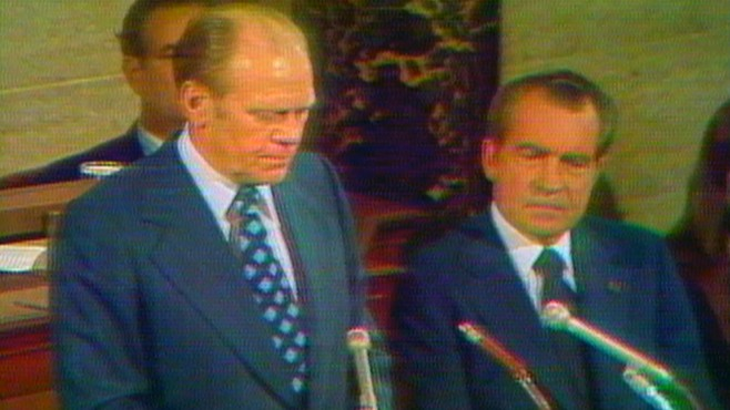 Gerald Jones Ford >> Dec. 6, 1973: Gerald Ford Sworn in as V.P. Video - ABC News