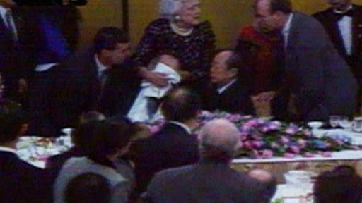 Jan 11 1992 President Bush Gets Sick In Japan Video Abc News