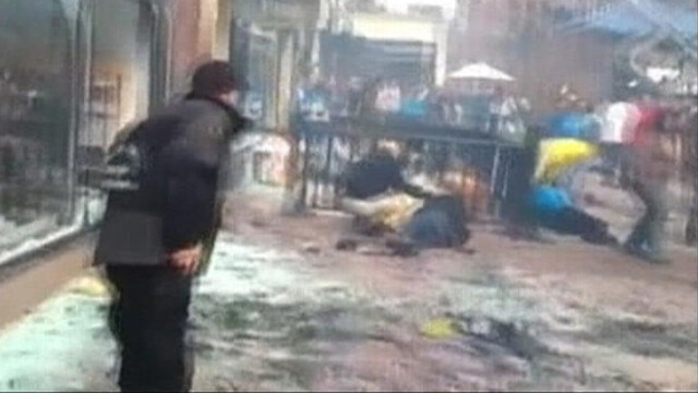 VIDEO: Stamapis Astra filmed the injured in the moments following the bombings.