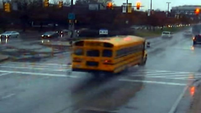 PHOTO: Traffic cameras caught hundreds of local school bus drivers running red and speeding while taking children to and from school in Baltimore.