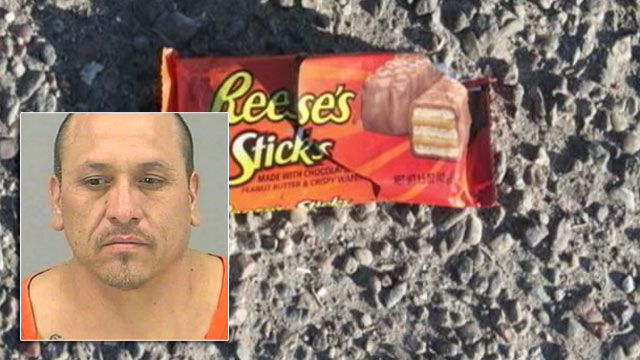 PHOTO:Jose Lopez, Jr., was arrested in connection to the burglary of an Arizona Party story. The man stole money and safe, but also a handful of candy. The trail of candy wrappers led police from the store to his home nearby.