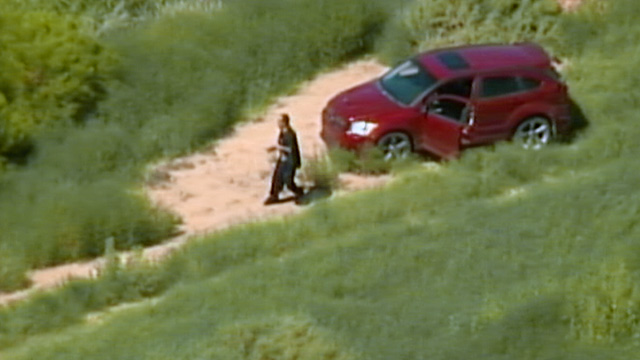 PHOTO: Carjacker outside car