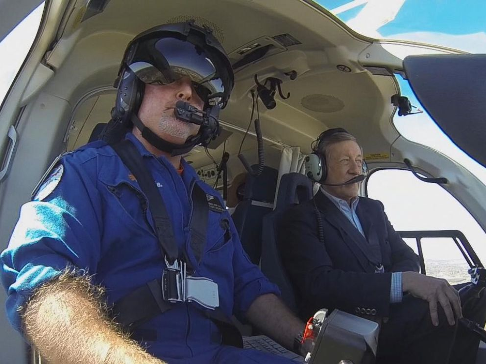 PHOTO: ABC News Chief Investigative Correspondent Brian Ross flies with the non-profit Texas-based air ambulance service CareFlite.