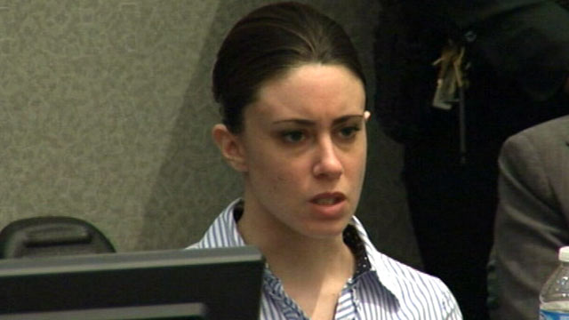 PHOTO: Casey Anthony talks in the courtroom in her murder trial at the Orange County Courthouse Orlando, Fla.