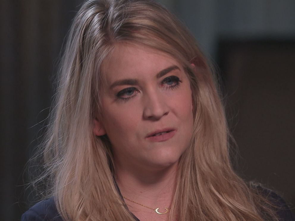 Chelsea Burkett is seen here during an interview with ABC News Nightline.