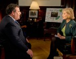 """PHOTO: New Jersey governor Chris Christie talks with Barbara Walters during """"Barbara Walters Presents: The 10 Most Fascinating People of 2012"""" which airs Dec. 12, 2012."""
