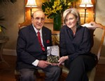 "PHOTO: Music industry titan Clive Davis, holding his new book, ""The Sound Track of My Life,"" sat down for an interview with ""Nightline"" anchor Cynthia McFadden."