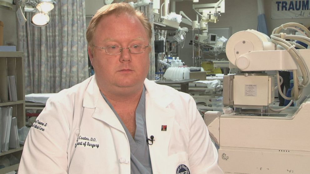 Dr. Jay Coates is a trauma surgeon at Las Vegas University Medical Center who operated on Horn.