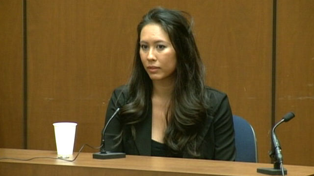PHOTO:Michelle Bella testifies during Dr. Conrad Murray's trial in the death of pop star Michael Jackson in Los Angeles, Oct. 4, 2011.