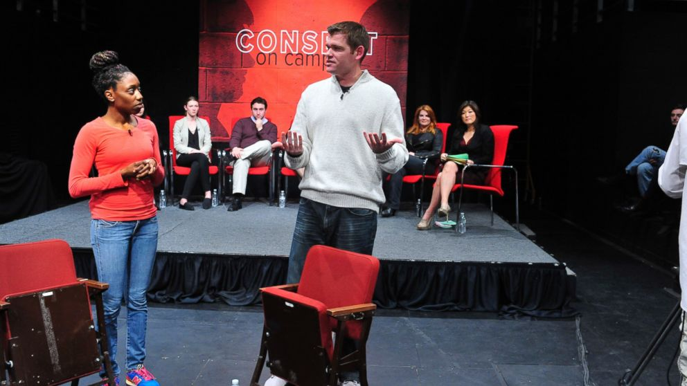 """Members of the improv group Catharsis Productions participated in the """"Consent on Campus"""" discussion ABC News """"Nightline"""" hosted at Penn State University."""