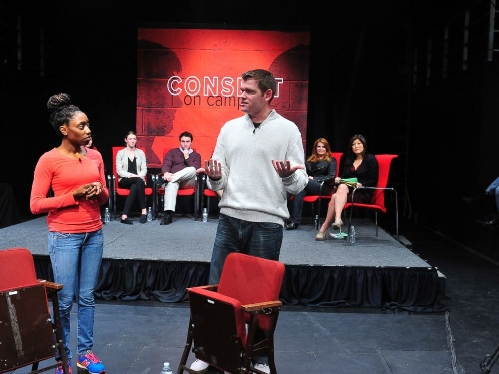 Members of the improv group Catharsis Productions participated in the Consent on Campus discussion ABC News Nightline hosted at Penn State University.