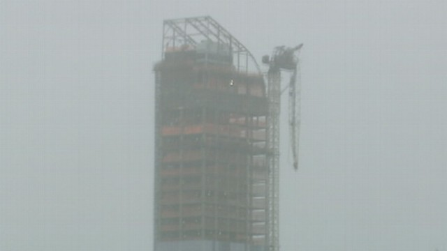 VIDEO: A crane has partially collapsed at a high-rise building under construction in Manhattan.