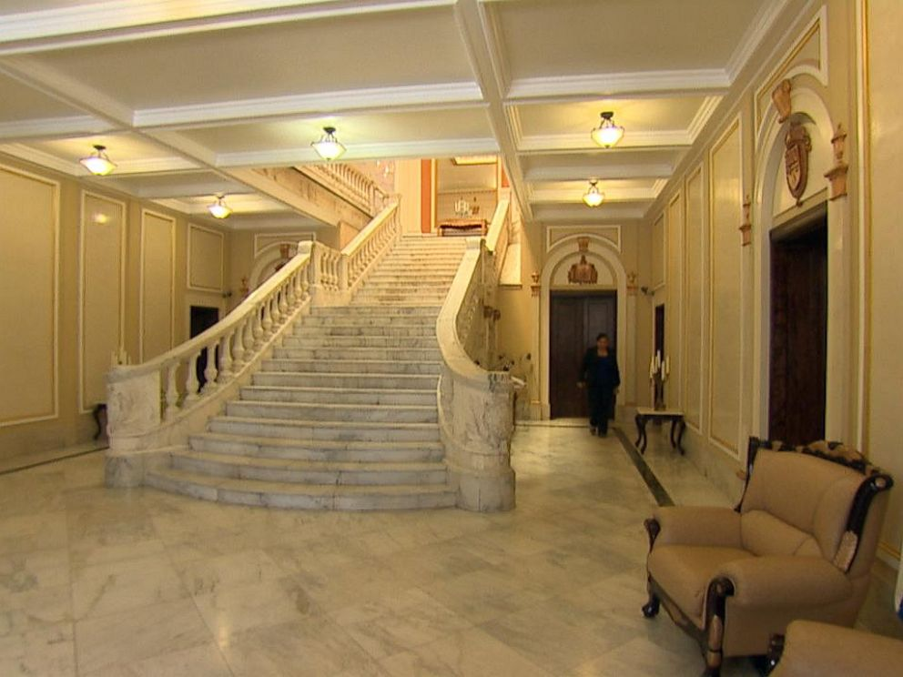 PHOTO: Walking into the Cuba Interest Section, which was built in 1917, a grand marble staircase greets you.