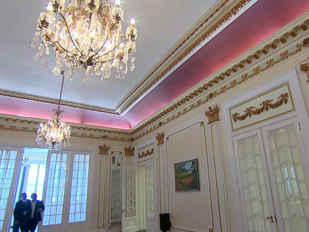 PHOTO: The Grand ballroom is often used for parties and functions; Cuban art adorns the walls. The entire room is recently refurbished, including the wood floors.
