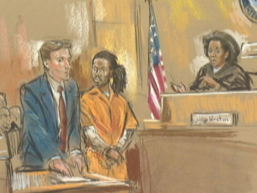 PHOTO: A courtroom sketch of the trial of Daron Wint.