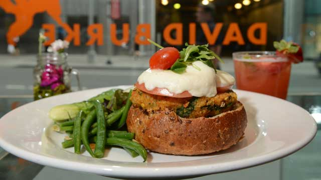 PHOTO: David Burke's Veggie Burger is served at his Bloomingdale's location in New York City, July 25, 2012.