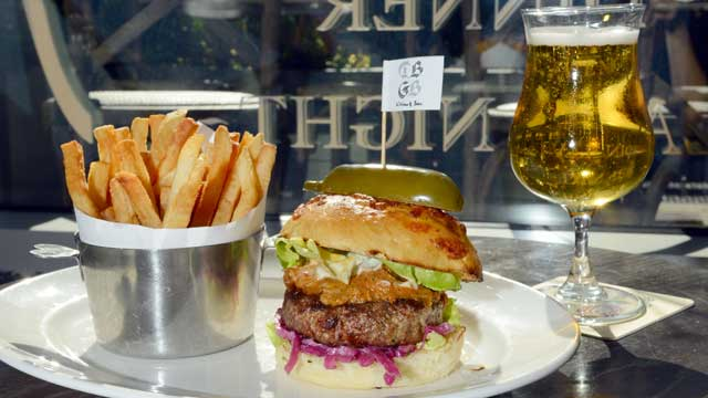 PHOTO: DBGB's restaurant offers a Burger called The Piggy, served in the New York City location, July 25, 2012.