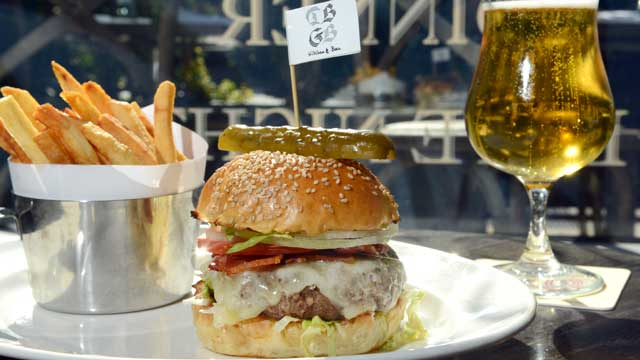 PHOTO: DBGB's restaurant offers a Burger called The Yankee, served in the New York City location, July 25, 2012.