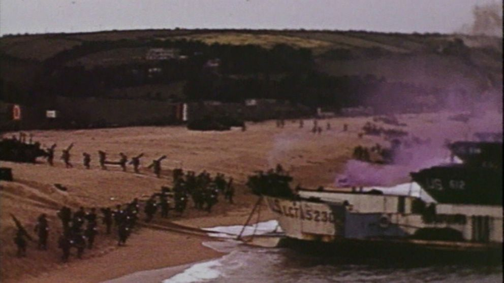 D-Day Color Footage Gives Rare Insight Into Invasion of Normandy