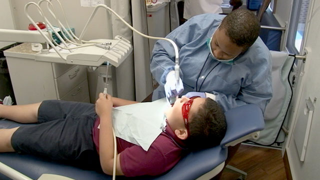 PHOTO: Nationwide 16 million low-income children on Medicaid get no routine dental care, not even a routine exam.